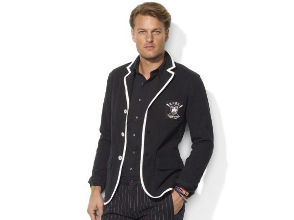Polo Ralph Lauren Cotton Jersey Blazer In Black Men Lyst
