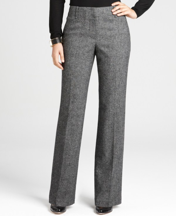 Ann Taylor Black Tweed Pants