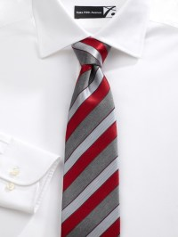 Saks Fifth Avenue Men Collection Whistler Stripe Silk Tie ...