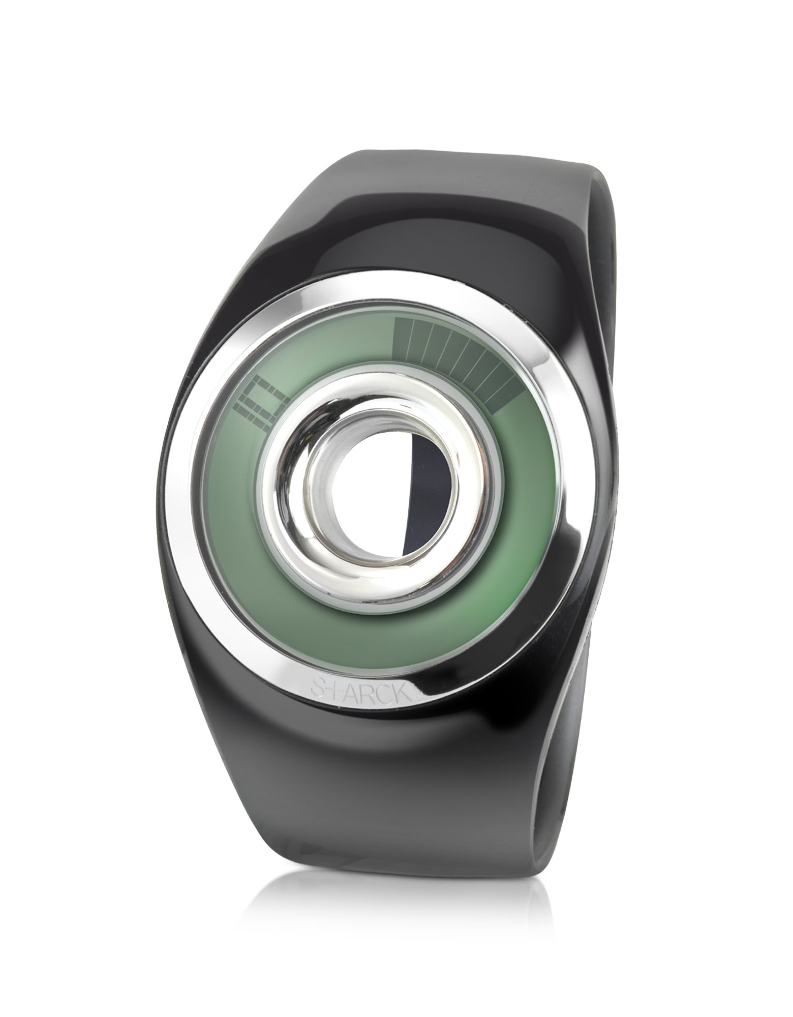 Lyst - Philippe Starck Shiny Black O-ring Watch in Black for Men