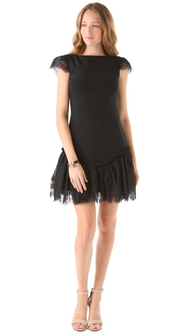 Marchesa Notte Black Dress