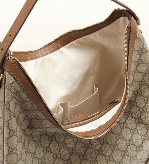 c7e627dcf Lyst Gucci Nice Gg Supreme Canvas Hobo In Brown - Year of Clean Water