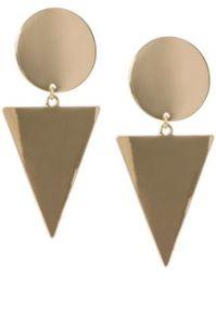 Asos Xl Spot Triangle Doorknocker Earrings in Gold (coral ...