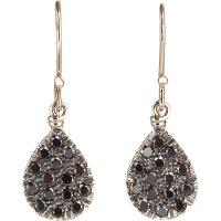 Fabrizio Riva Black Diamond Teardrop Earrings in Gray ...