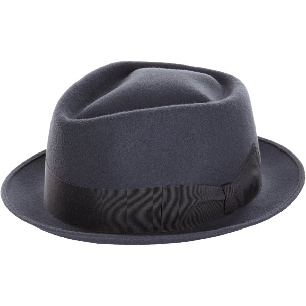 Borsalino Short Brim Fedora In Gray Men - Lyst