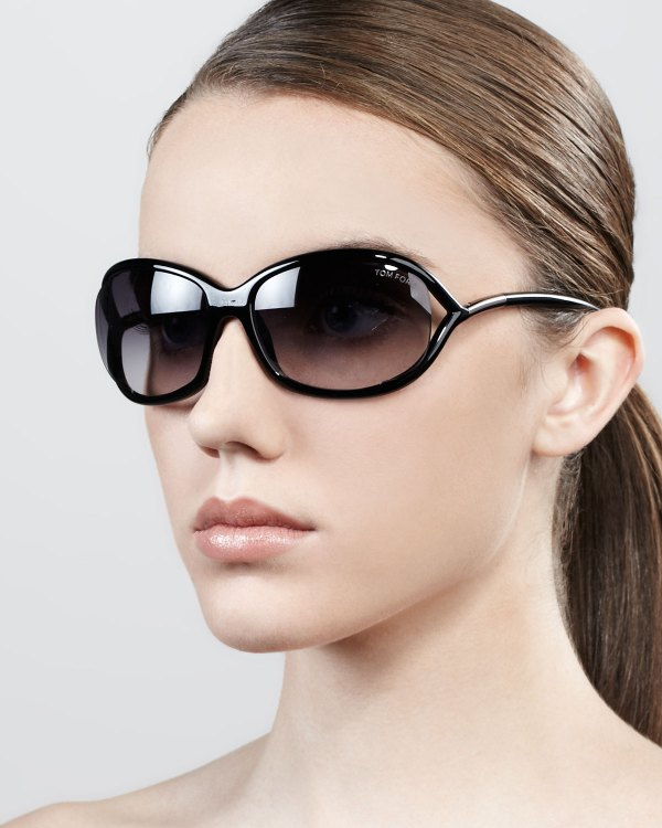 Tom Ford Jennifer Opentemple Sunglasses Blackgunmetal In