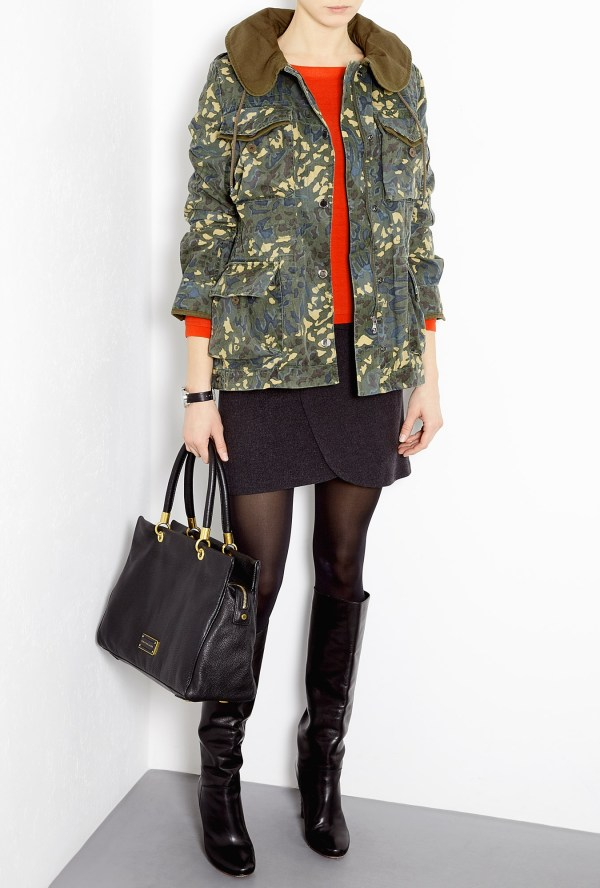 Marc Jacobs Forest Night Multi Camo Forks Parka In
