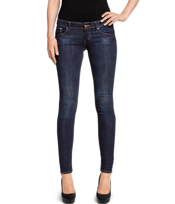 & Super Skinny Jeans In Blue Lyst