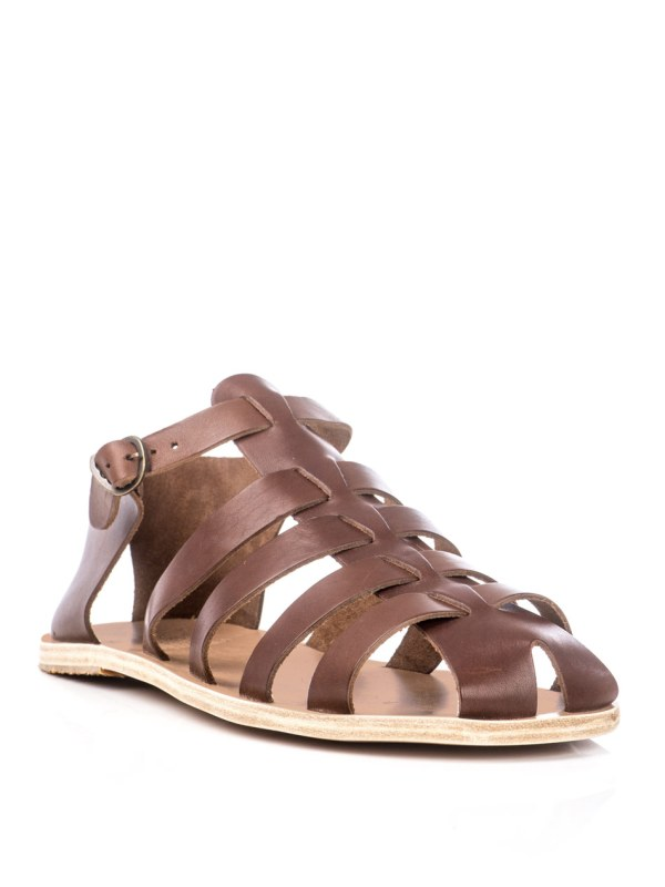 Lyst - Ancient Greek Sandals Homer In Brown Men