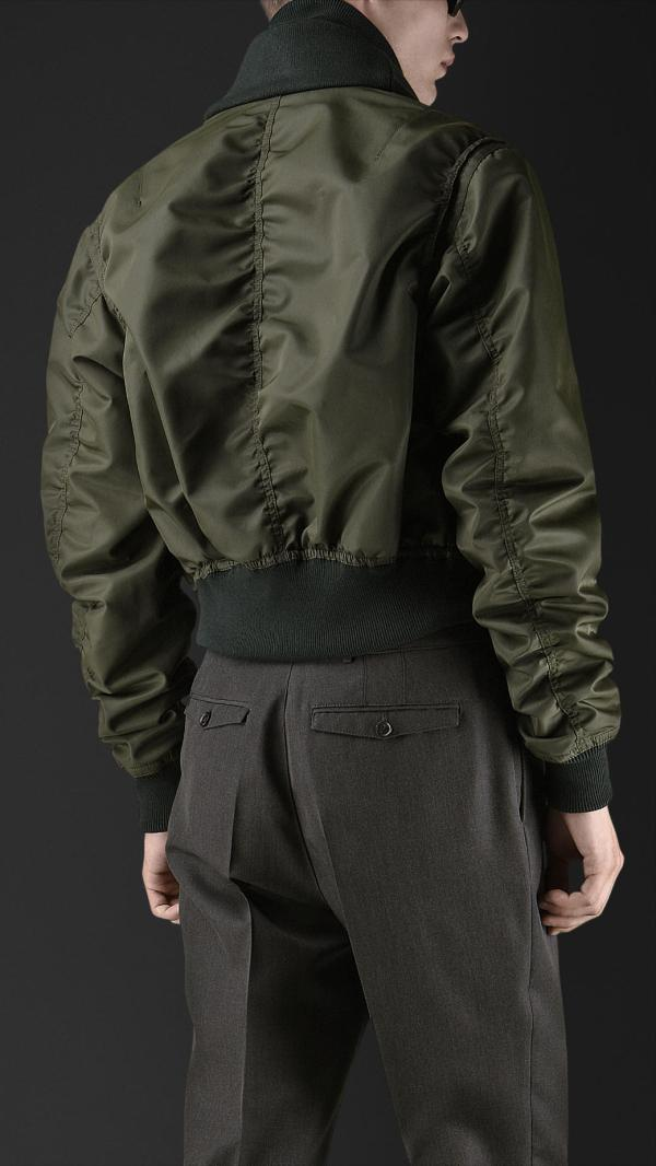 Lyst - Burberry Prorsum Cropped Nylon Bomber Jacket In