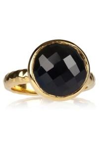 Lyst - Monica vinader Medina 18karat Goldvermeil Onyx Ring ...