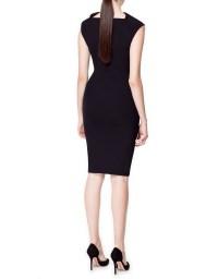 Zara Plain Fitted Dress in Black | Lyst