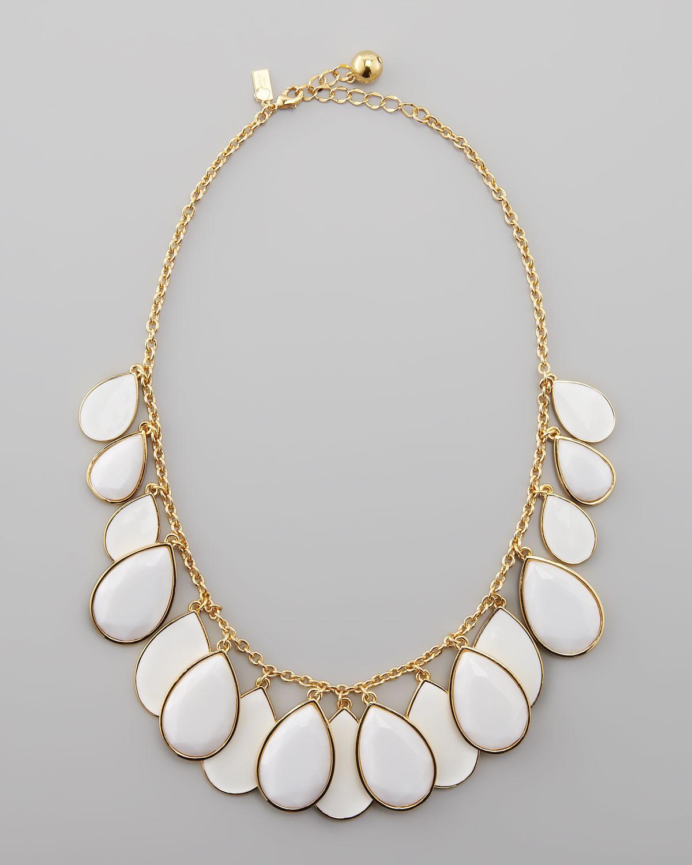 Kate Spade Teardrop Necklace In White  Lyst