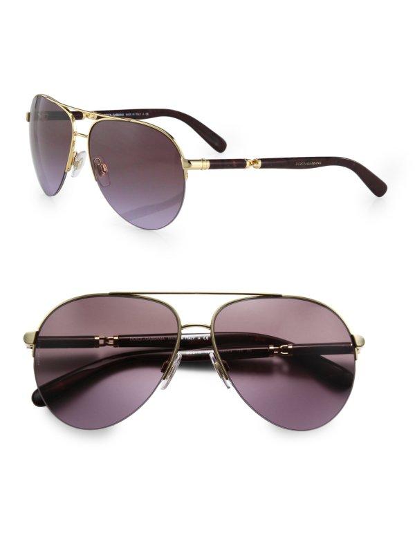 Dolce And Gabbana Gold Aviator Sunglasses Louisiana
