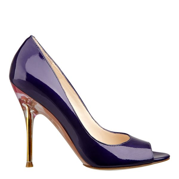 Nine West Delilah Pumps In Purple Patent Leather
