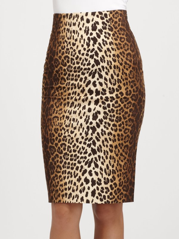 Love Moschino Leopard Print Skirt In Brown Lyst