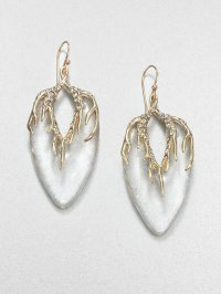 Alexis Bittar Lucite and Crystal Drop Earrings in Gold ...