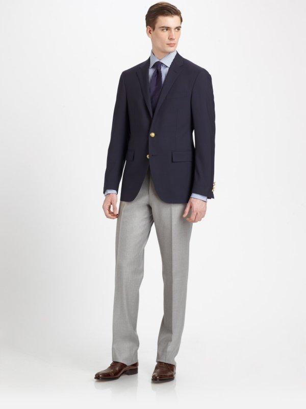 Lyst - Polo Ralph Lauren Customfit Wool Blazer In Blue Men