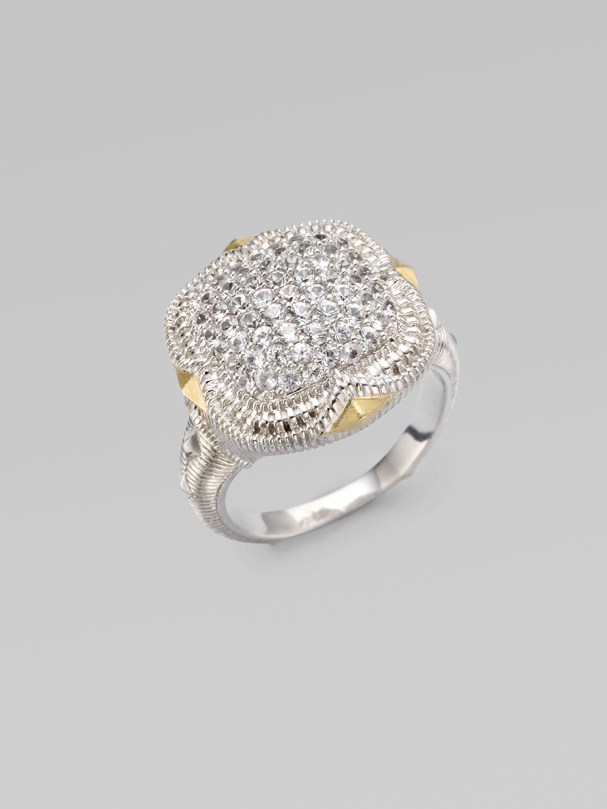 Lyst  Judith ripka White Sapphire Sterling Silver Cushion Stone Ring in White