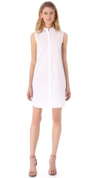 Lyst - T By Alexander Wang Sleeveless Shirt Dress in White