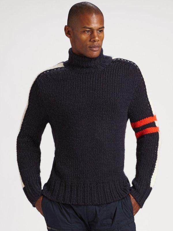 Lyst - Rlx Ralph Lauren Astro Stripe Turtleneck Sweater In