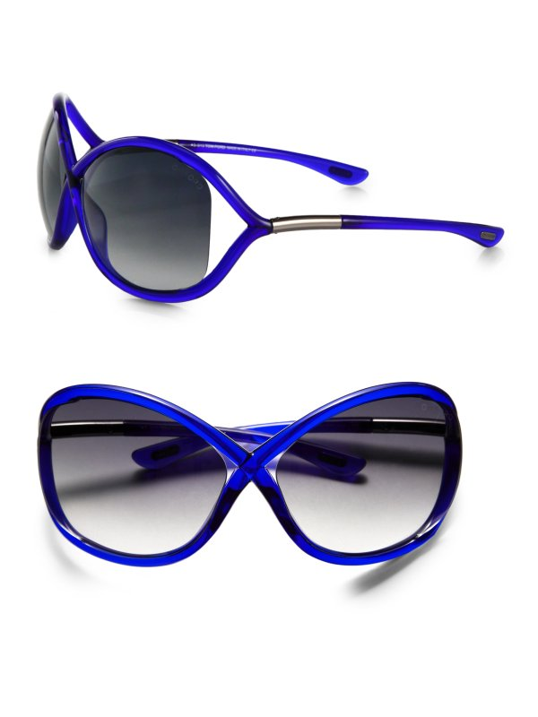 Tom Ford Whitney Oversized Crossover Sunglasses In