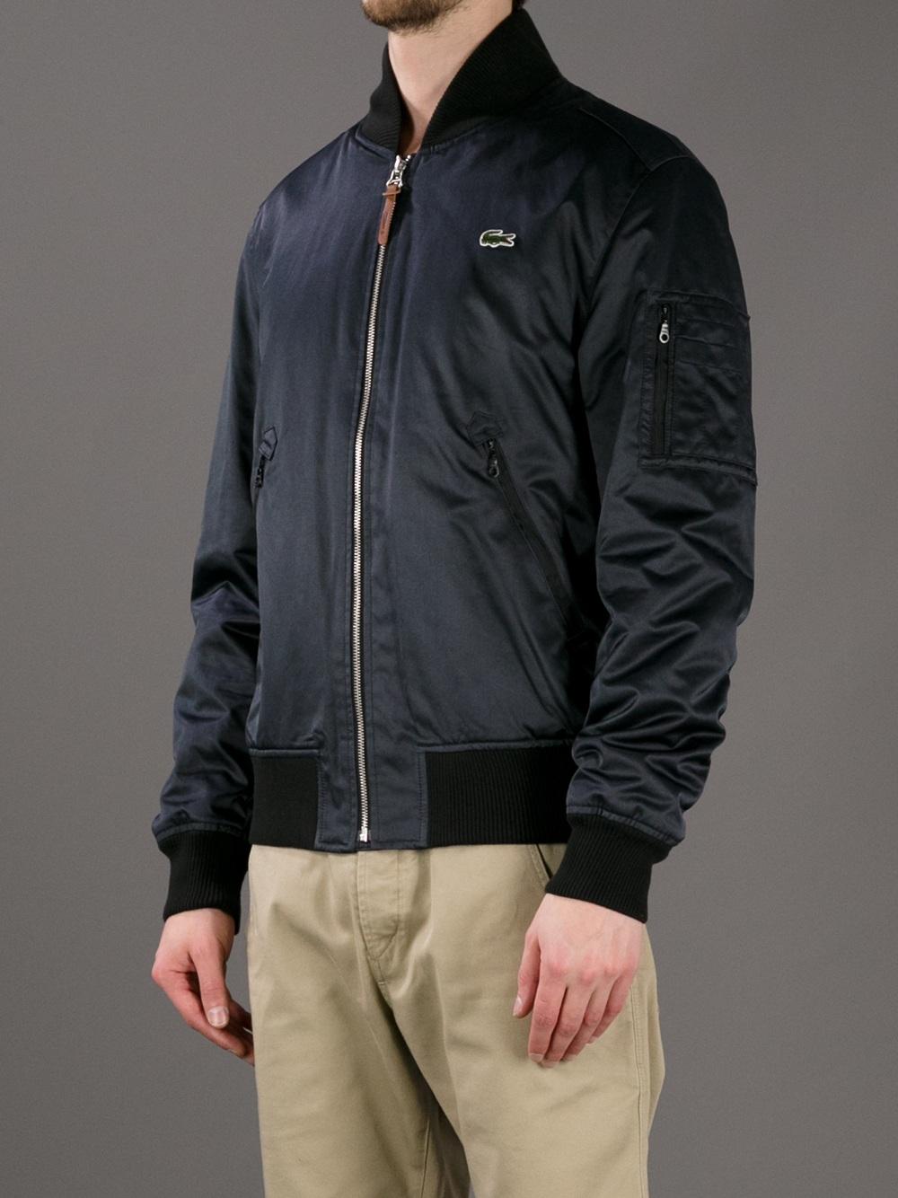 Lacoste live Bomber Jacket in Black for Men  Lyst