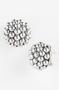 Lagos Bold Caviar Stud Earrings in Silver (sterling silver ...