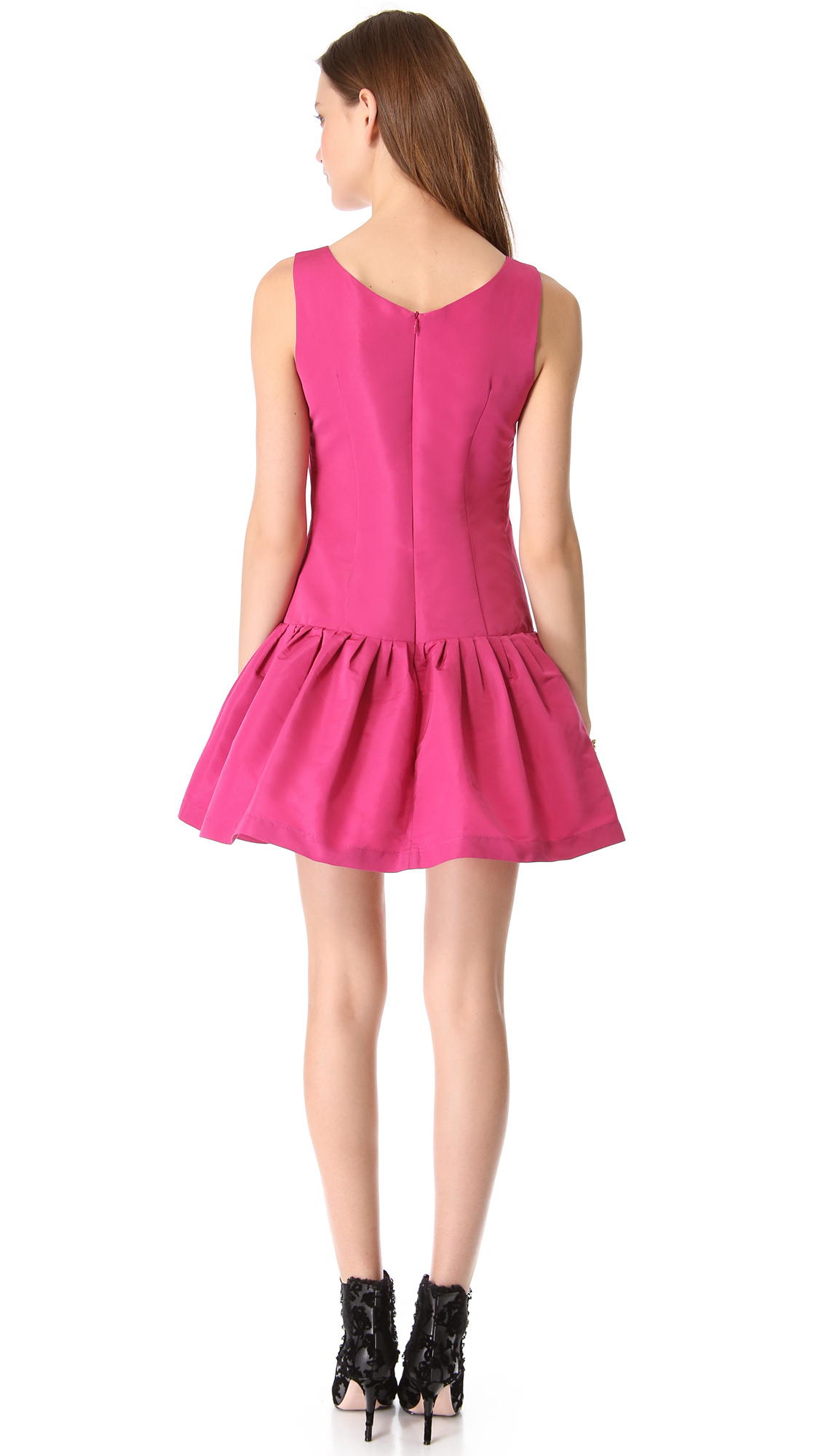 Lyst Red Valentino Drop Waist Faille Dress In Pink