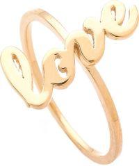 Jennifer Zeuner Cursive Love Ring in Gold   Lyst