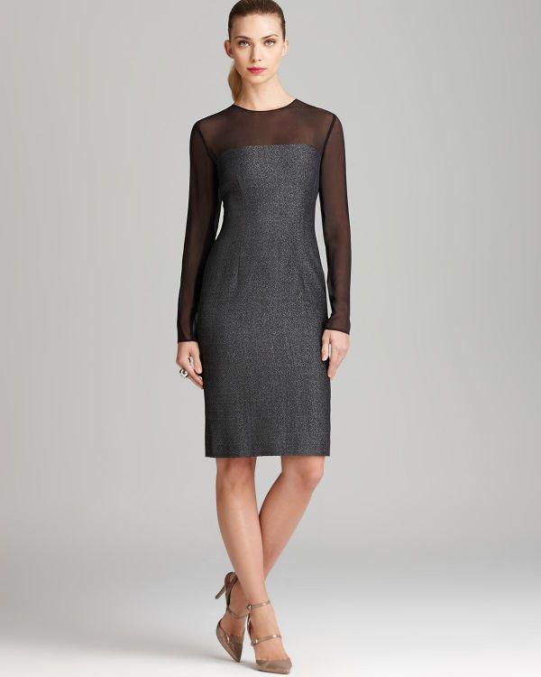 Escada Dress Illusion In Black Lyst