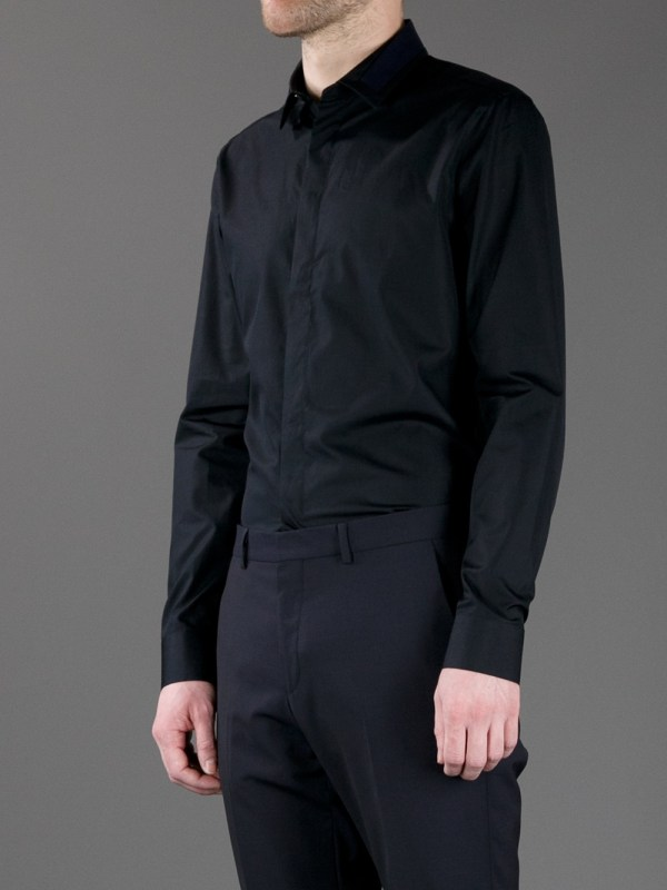 Givenchy Button Shirt In Black Men Lyst