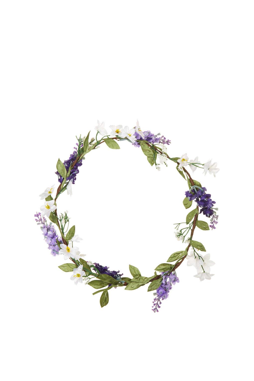 Lyst  Topshop Heather Flower Garland in Purple