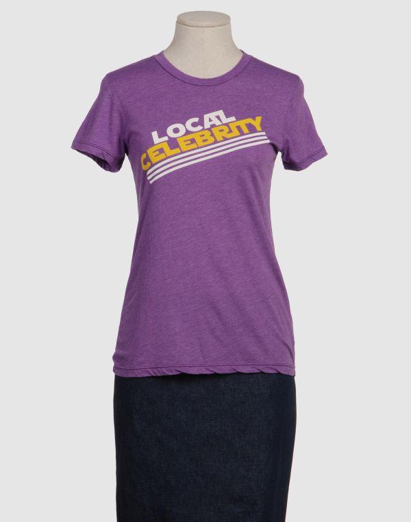Lyst - Local Celebrity Short Sleeve T-shirt In Purple