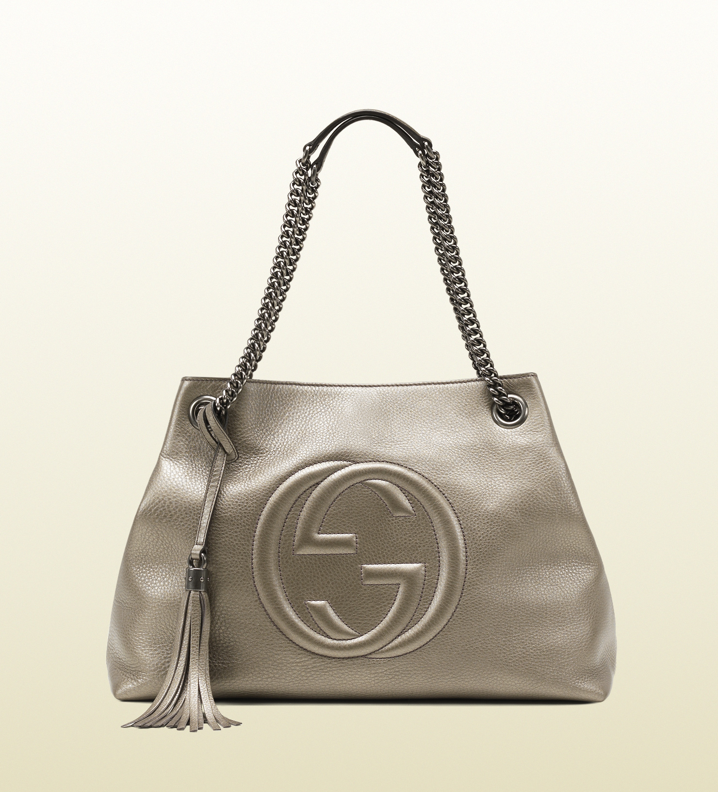 Lyst Gucci Soho Metallic Leather Chain Shoulder Bag In - Modern Home ... 6248c9c95816b