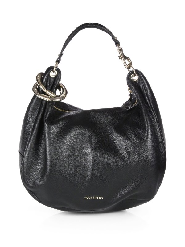 Jimmy Choo Solar Large Hobo In Black Lyst