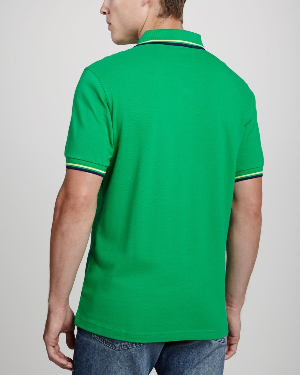 Lyst - Fred Perry Twintipped Polo Shirt Kelly Green In