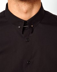 Lyst - Asos Smart Shirt with Tie Pin in Black for Men