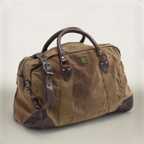 Green Canvas Duffle Bag