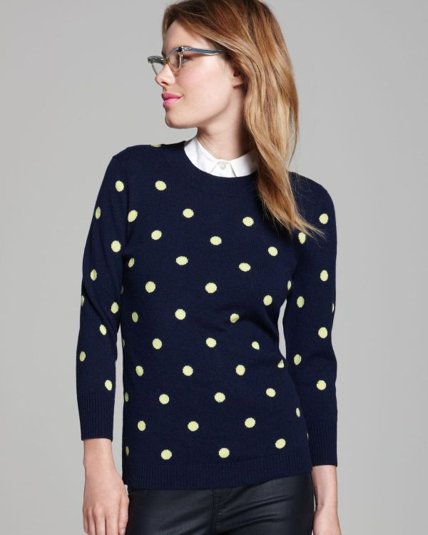 Lyst - Bloomingdale' Cashmere Polka Dot Pullover