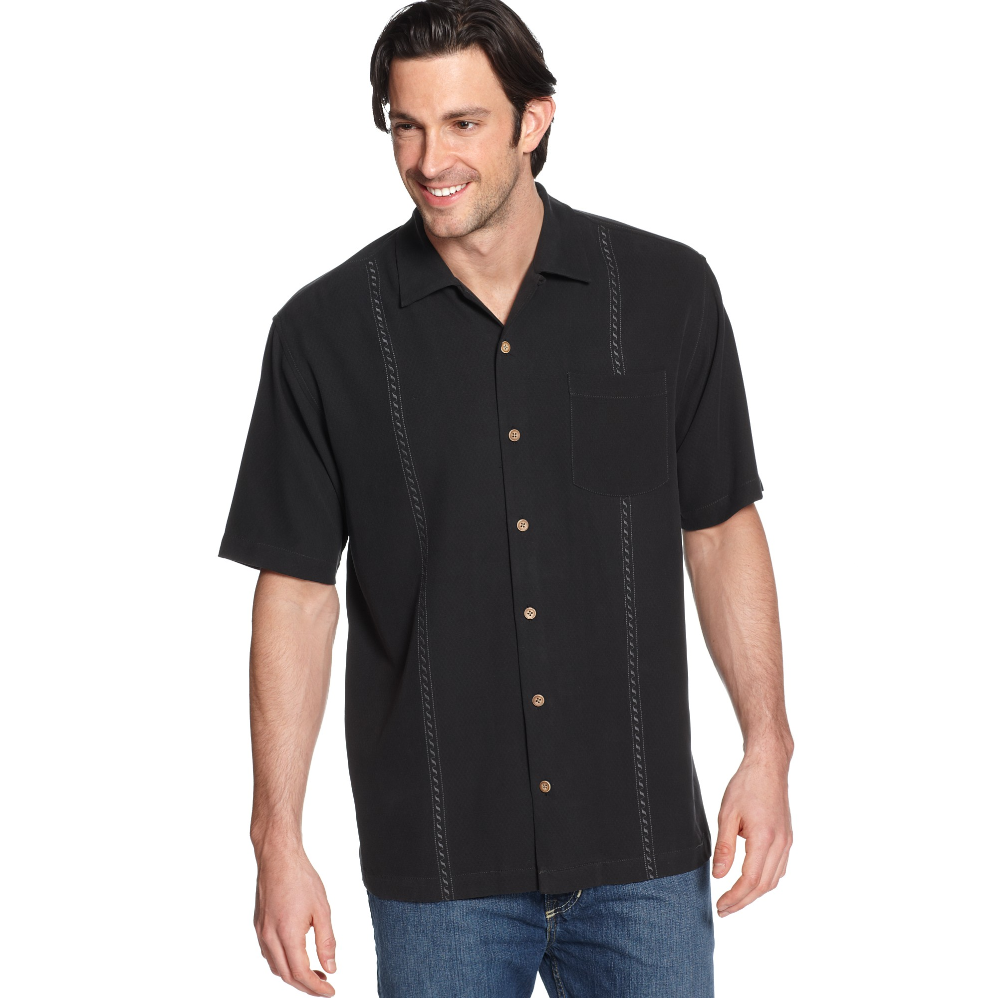 Tommy Bahama Sound Waves Shirt in Black for Men  Lyst