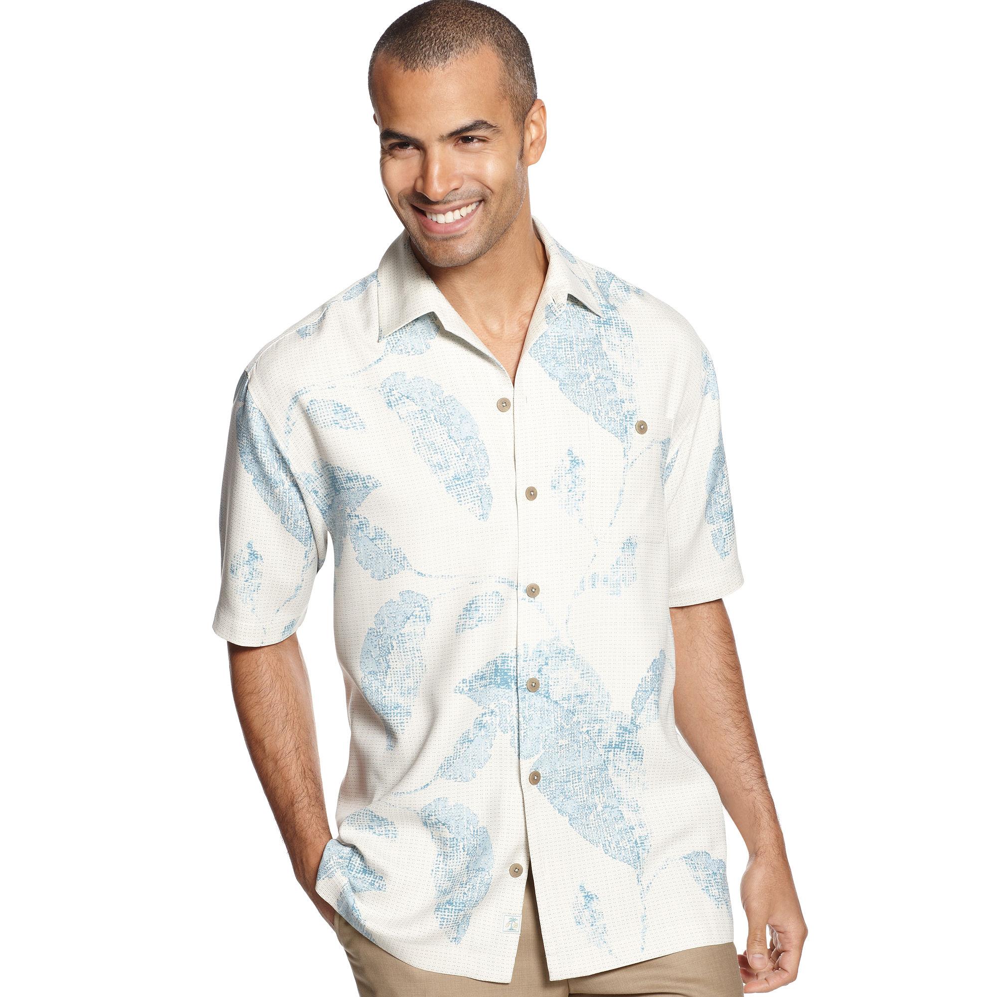 Tommy Bahama Island Imprint Shirt in Blue for Men black