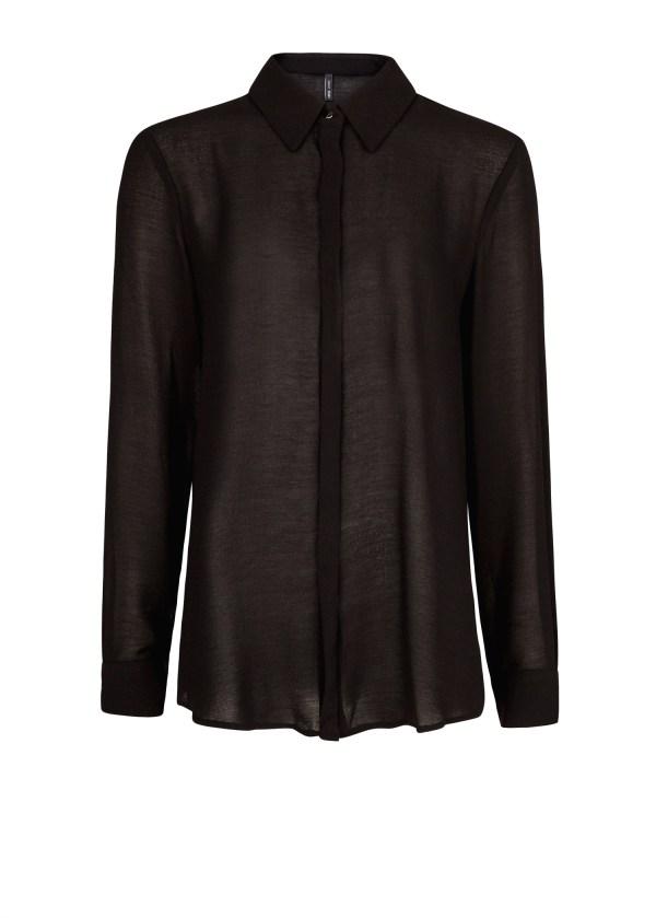 Lyst - Mango Long Sleeve Chiffon Shirt In Black