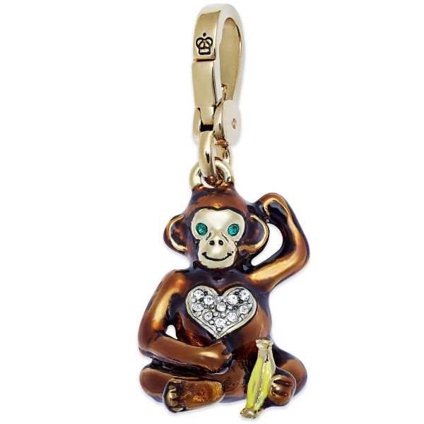 Lyst - Juicy Couture Goldtone Monkey Charm In Metallic