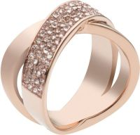 Rose Gold Ring: Michael Kors Pave Rose Gold Ring