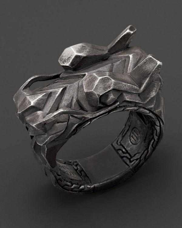 John Hardy Men' Naga Sterling Silver Dragon Head Ring In