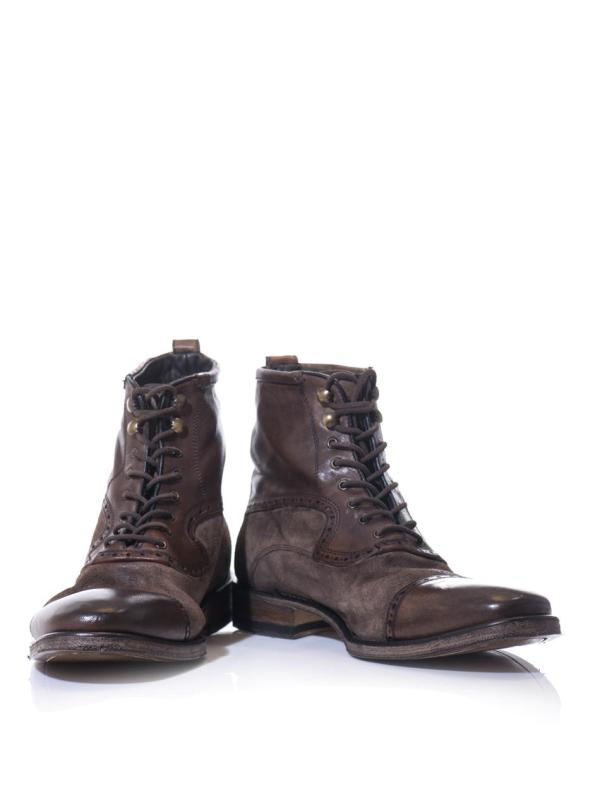 John Varvatos Fleetwood Cappedtoe Leather Boots In Brown