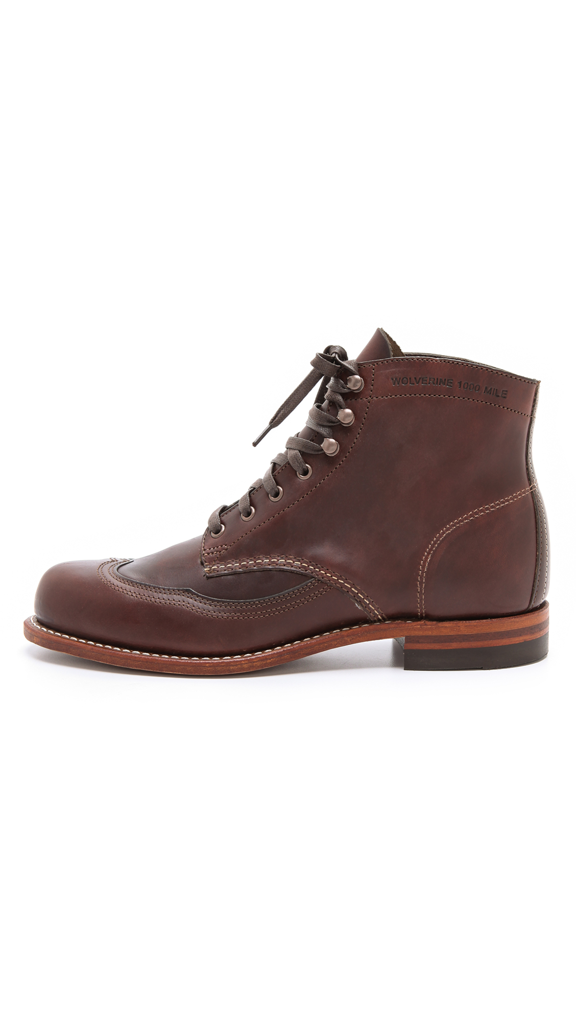 Lyst Wolverine Addison 1000 Mile Wingtip Boots In Brown