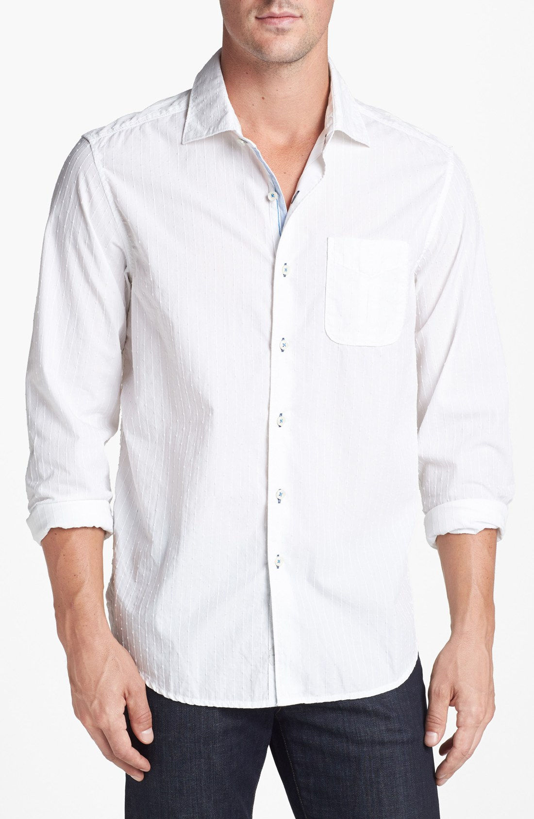 Tommy Bahama 3 Stripe N Seek Sport Shirt in White for Men