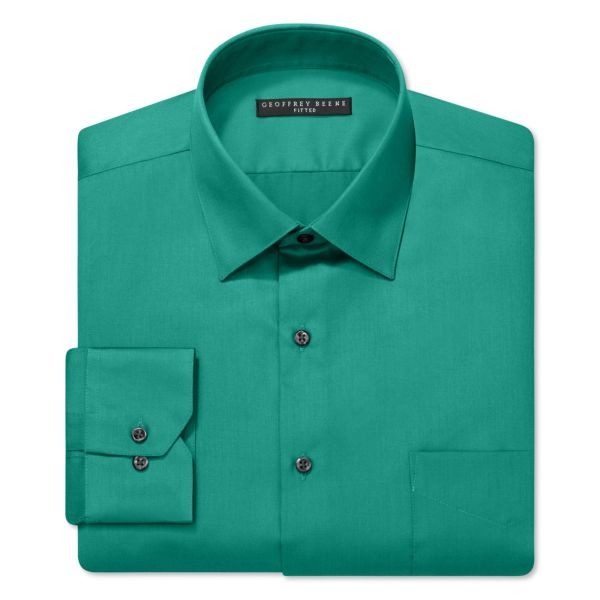 Lyst - Geoffrey Beene Fitted Sateen Shirt In Green Men